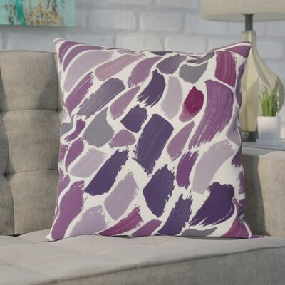 Goodlow Abstract Throw Pillow Size: 26 H x 26 W, Color: Purple