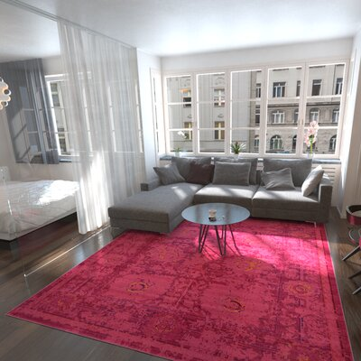 Nadene Red Area Rug Rug Size: Rectangle 9 x 12