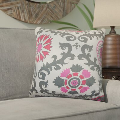 Brindalla Geometric Throw Pillow Cover Color: Gray Pink