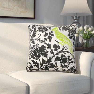 Mandell Cotton Throw Pillow Color: Black / Chartreuse, Size: 18 x 18