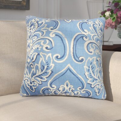 Chancellor Floral Throw Pillow Color: Blueberry, Size: 24 x 24