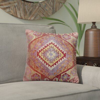Lynnette Square Indoor/Outdoor Throw Pillow Size: 18 x 18