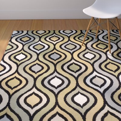 Keenan Synthetic Gray/Yellow/Green Area Rug