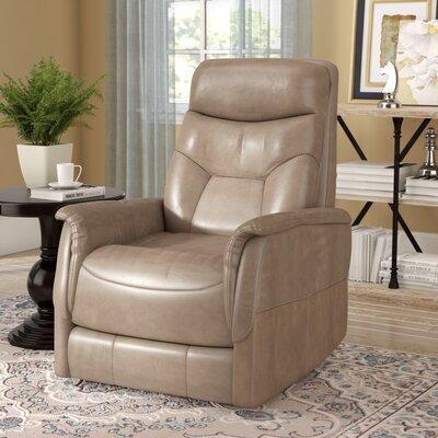 Haliburton Power Swivel Recliner Upholstery: Linen