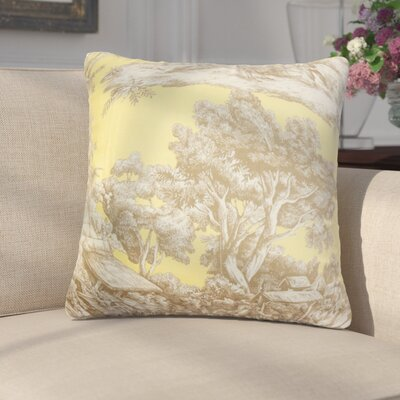 Chalgrave Toile Cotton Throw Pillow Cover Color: Yellow
