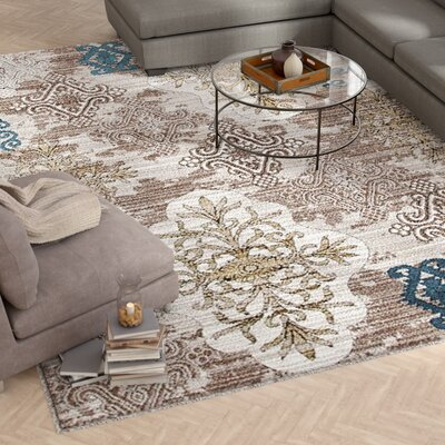 Chapman Beige/Cream Indoor/Outdoor Area Rug Rug Size: 5 x 7