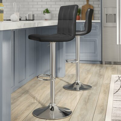 Gemini Adjustable Height Swivel Bar Stool (Set of 2)