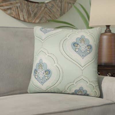 Beauford Floral Throw Pillow Size: 22 x 22, Color: Sea Green