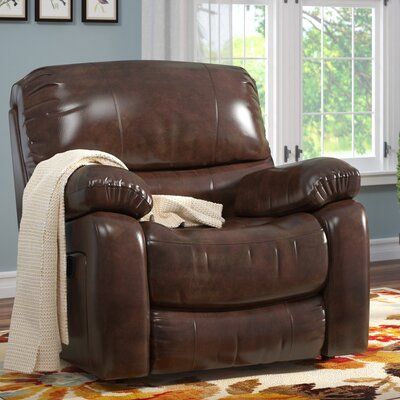 Gracehill Leather Manual Wall Hugger Recliner Reclining Type: Manual