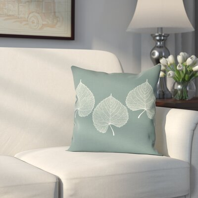 Leatham Leaf 2 Floral Outdoor Throw Pillow Size: 16 H x 16 W, Color: Green