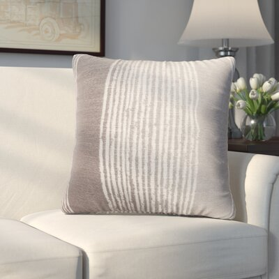 Longview Stripe Decorative Throw Pillow Color: Silver