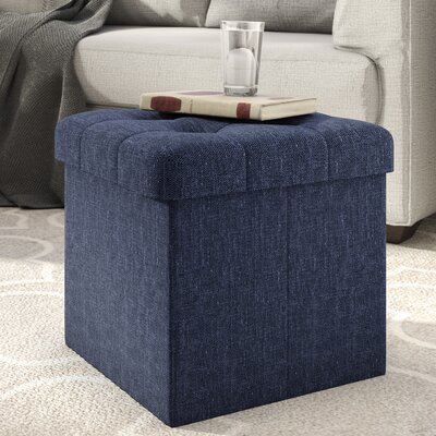 Zosia Storage Ottoman Upholstery Color: Midnight Blue