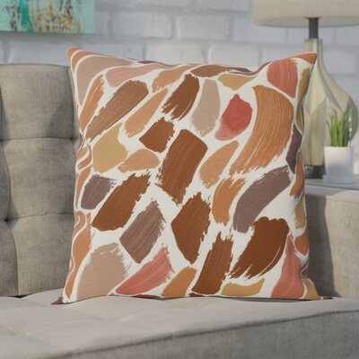 Goodlow Abstract Throw Pillow Size: 16 H x 16 W, Color: Orange