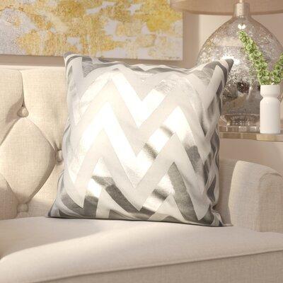 Arthurs Decorative Throw Pillow Color: White/Silver