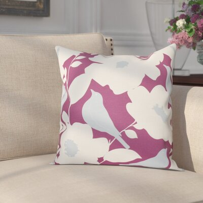Franca Modfloral Floral Print Throw Pillow Size: 26 H x 26 W, Color: Purple