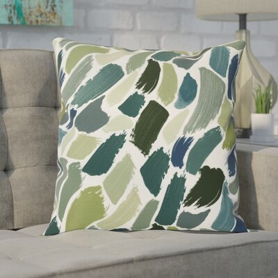 Goodlow Abstract Throw Pillow Size: 16 H x 16 W, Color: Green