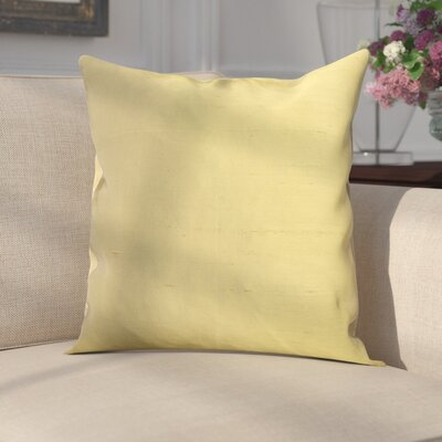Parkison Decorative Silk Throw Pillow Color: Green