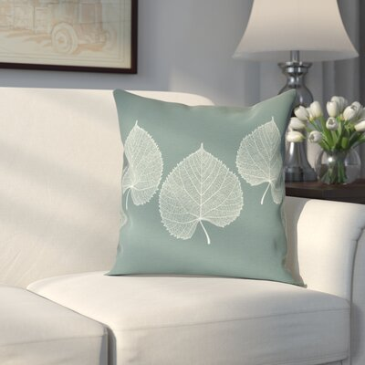 Leatham Leaf 2 Floral Throw Pillow Size: 16 H x 16 W, Color: Green