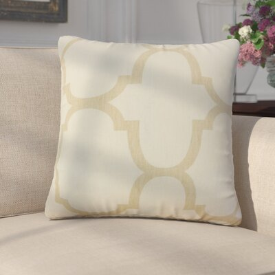 Channon Geometric Linen Throw Pillow Cover Color: Ivory