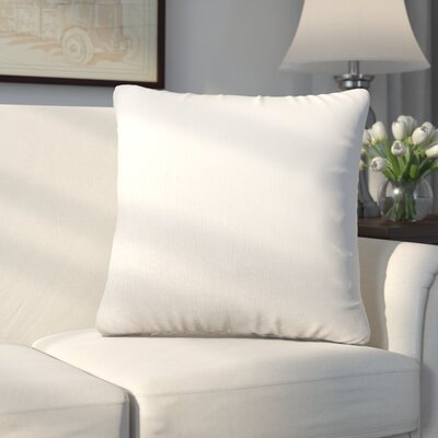 Longview Solid Decorative Throw Pillow Color: White