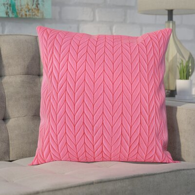 Brott Throw Pillow Color: Pink