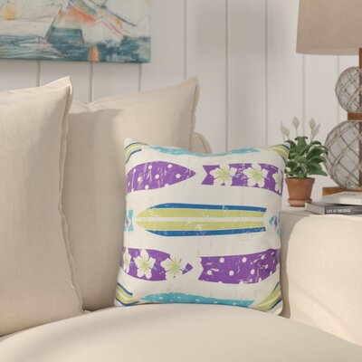 Cobscook Geometric Outdoor Throw Pillow Color: Purple