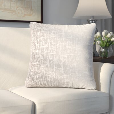 Longview Texture Decorative Throw Pillow Color: Silver