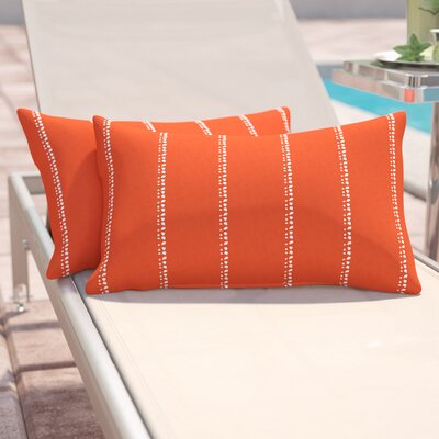 Balentine Outdoor Lumbar Pillow Color: Orange