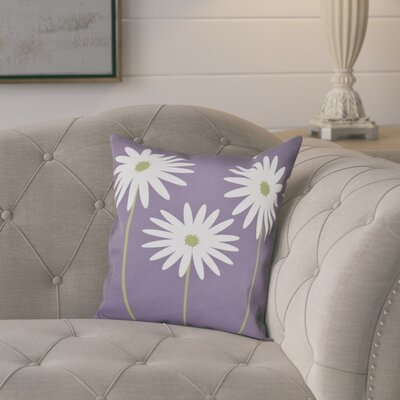 Omar Floral Print Throw Pillow Size: 18 H x 18 W x 1 D, Color: Hyacinth