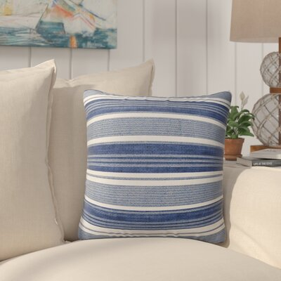 Pinehurst Burlap Modern Indoor/Outdoor Throw Pillow Size: 16 H x 16 W x 5 D, Color: Blue