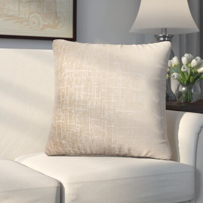 Longview Texture Decorative Throw Pillow Color: Champagne