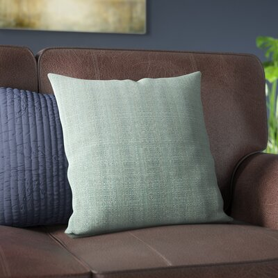 Verrett Solid Indoor/Outdoor Throw Pillow Size: 17 H x 17 W, Color: Duck Egg Blue