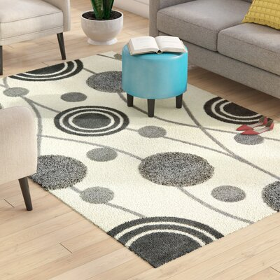 Chidi Ivory & Grey Area Rug Rug Size: Rectangle 5 x 8