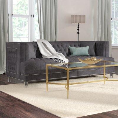 Hettie Chesterfield Sofa Upholstery: Gray
