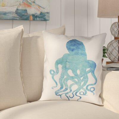 Colgate Watercolor Octopus Outdoor Throw Pillow