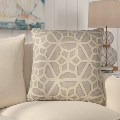 Bonham Geometric Pattern Down Fill Throw Pillow Color: Grey / Taupe