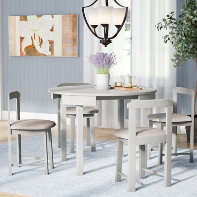 Mabelle 5 Piece Dining Set Finish: Gray