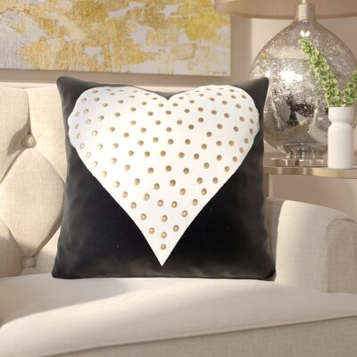 Swinton Heart Studded Throw Pillow