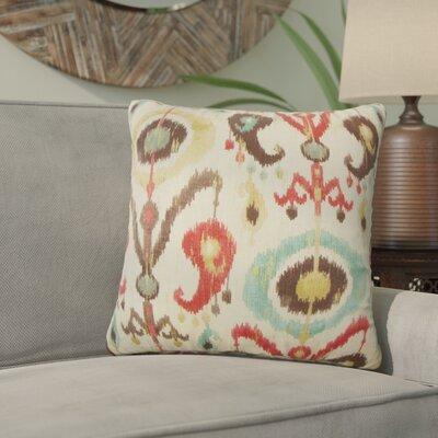 Brislington Ikat Cotton Throw Pillow Cover Color: Copper