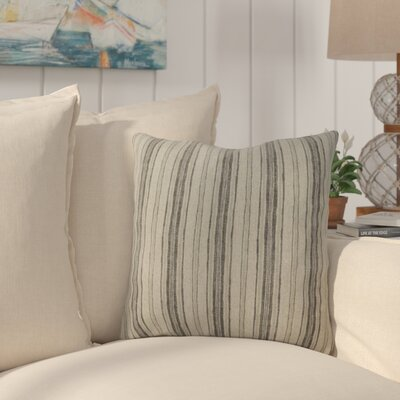Kenzie 100% Cotton Throw Pillow Color: Gray