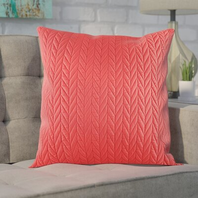Brott Throw Pillow Color: Red