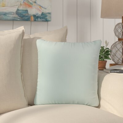 Saxon Indoor/Outdoor Throw Pillow Size: 18 H x 18 W x 6 D, Color: Aqua