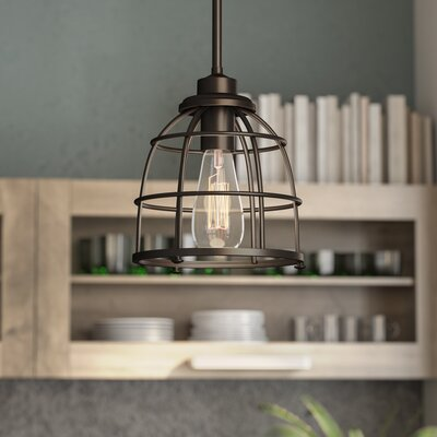 Celeste 1-Light Mini Pendant Finish: Mahogany Bronze, Size: 47.38 H x 8.13 W x 8.13 D