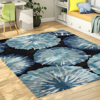 Breonna Hand Woven Blue Indoor/Outdoor Area Rug Rug Size: Rectangle 76 x 96