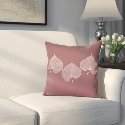 Leatham Leaf 2 Floral Outdoor Throw Pillow Size: 18 H x 18 W, Color: Brick Red
