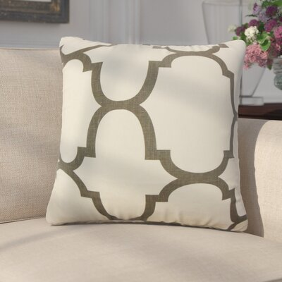 Channon Geometric Linen Throw Pillow Cover Color: Clove