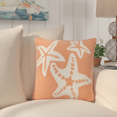 Torino Starfish Indoor/Outdoor Throw Pillow Color: Orange