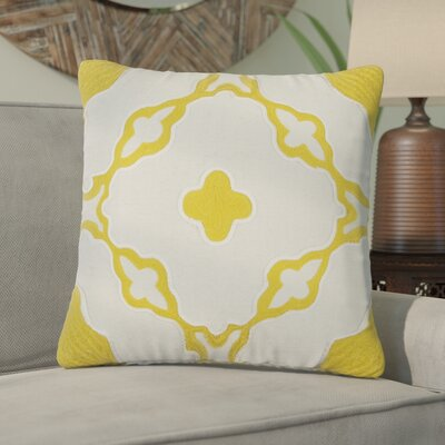 Briarcliffe Decorative 100% Cotton Throw Pillow Color: Yellow