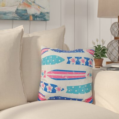 Cobscook Geometric Outdoor Throw Pillow Color: Blue
