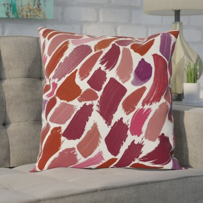 Goodlow Abstract Throw Pillow Size: 16 H x 16 W, Color: Cranberry